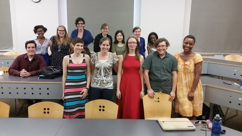 A partial assemblage of EGSA members at our first meeting of the 2016-2017 academic year!